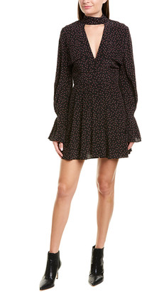 Nicholas Flounce Silk Mini Dress