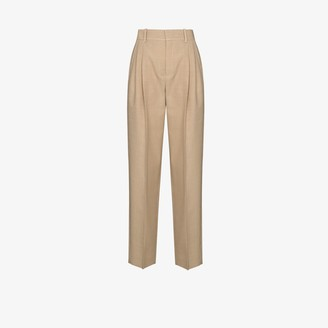 Chloé High Waist Mini Houndstooth Wool Trousers