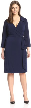 Melissa Masse Plus Women's Wrap Shirt Dress