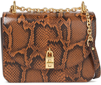 Rebecca Minkoff Love Too Snake-effect Leather Shoulder Bag