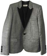 Saint Laurent Silver Polyester Jacket