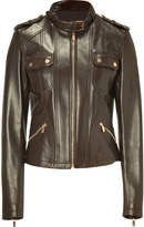 Michael Kors Chocolate Leather Jacket
