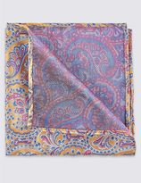 Marks and Spencer Pure Silk Paisley Print Pocket Square