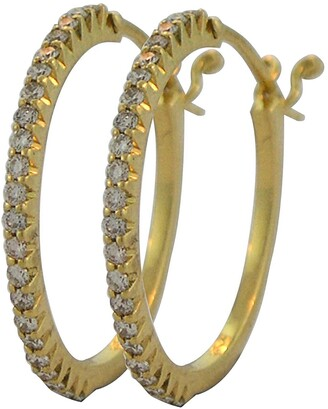 Sethi Couture Micro Prong Diamond Hoop Earrings