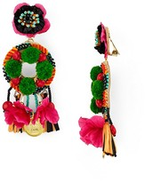 Ranjana Khan Pom-Pom Clip-On Drop Earrings