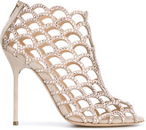 Sergio Rossi crystal embellished sandals - women - Calf Leather/Leather/Crystal - 38