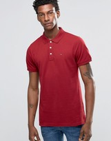 Tommy Hilfiger Polo Shirt In Slim Stretch Red