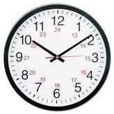 """Universal 24-Hour 12"""" Round Wall Clock White/Black"""