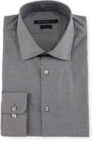 John Varvatos Slim-Fit Micro-Check Dress Shirt, Gray