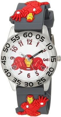 Marvel Boys' Iron Man Analog-Quartz Watch with Plastic Strap