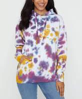 Ivory Ella Women's Sweatshirts and Hoodies DUSK - Dusk Tie-Dye Organic Cotton Hoodie - Women
