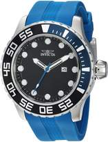 Invicta Men's 'Pro Diver' Quartz Stainless Steel and Silicone Casual Watch, Color:Blue (Model: 23471)