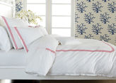 Ethan Allen White Twin Duvet Cover with Pink Embroidery