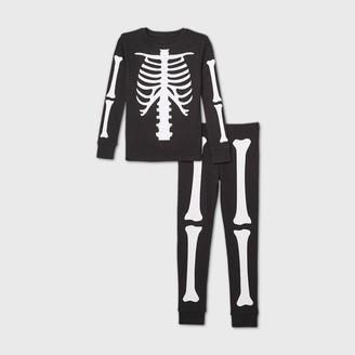 Nobrand Kids' Halloween Skeleton Matching Family Pajama Set -