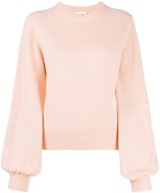 Chloé Monogram Embroidered Cashmere Jumper