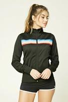 Forever 21 FOREVER 21+ Rainbow Stripe Track Jacket