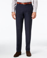 Calvin Klein Men's Extra-Slim Fit Navy Blue Geometric Dress Pants