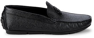 Roberto Cavalli Drivers Logo Leather Loafers