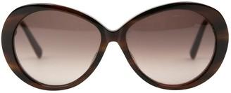 Kieselstein-Cord Brown Plastic Sunglasses