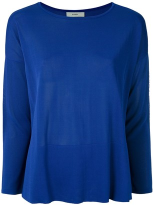 Egrey knit Firenze boat neck blouse
