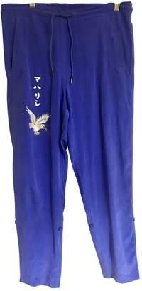 MHI Blue Silk Trousers