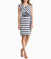 Lauren Ralph Lauren Stripe Jersey Tie-Side Dress