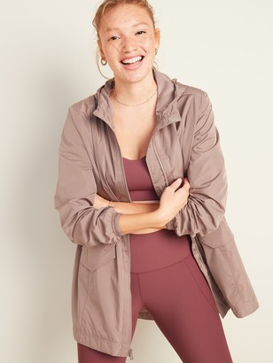 Old Navy Go-H20 Water-Resistant Hooded Anorak for Women