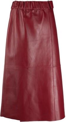 Acne Studios leather A-line skirt