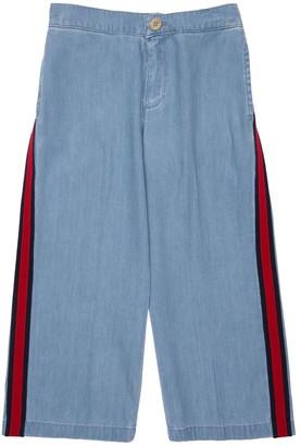 Gucci Cotton Denim Culotte Jeans