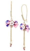 Betsey Johnson Summer Flowers Bow Earrings