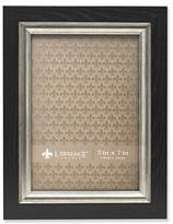 Lawrence Frames Black with Burnished Silver Composite Picture Frame, 5 by 7-Inch