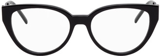 Saint Laurent Black Crystal Cat-Eye Glasses