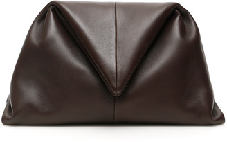 Bottega Veneta TRIANGLE ENVELOP CLUTCH OS Brown Leather