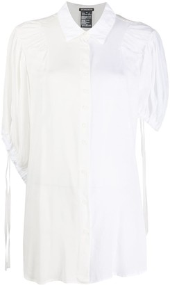 Ann Demeulemeester Two Tone 3/4 Sleeve Shirt