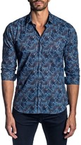 Jared Lang Semi-Fit Whale-Print Long-Sleeve Shirt