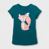 Cat & Jack Toddler Girls' Graphic T-Shirt - Cat & Jack Fiji Teal