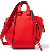 Loewe Hammock Small Textured-leather Shoulder Bag - Tomato red