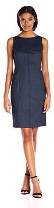 Jones New York Women's Fitted Indigo Midi Dress
