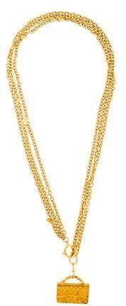 Chanel Flap Bag Pendant Necklace