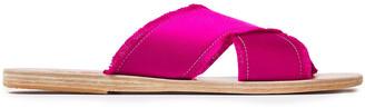 Ancient Greek Sandals Thais Frayed Satin Slides