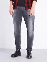 Nudie Jeans Brute Knut Grey Ring regular-fit straight-leg jeans