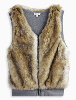 Splendid Girl Reversible Faux Fur Vest