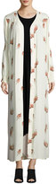 Knot Sisters Cactus Floral-Print Kimono, White