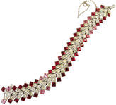 One Kings Lane Vintage ORA Garnet Crystal Bracelet