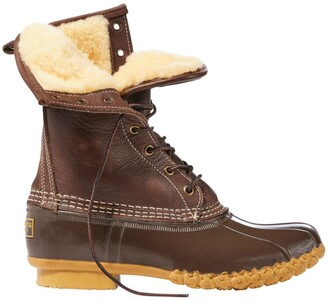 L.L. Bean Women's Shearling Lined Bean Boots, 10 Inch
