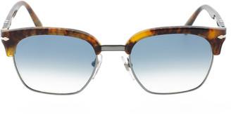 Persol Blue Half Rim Acetate Sunglasses