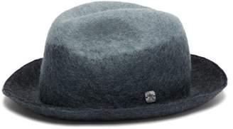 Filù Hats Filu Hats - Malmo Wool-blend Felt Derby Hat - Womens - Blue
