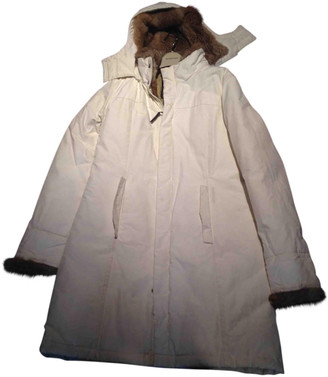 Woolrich White Polyester Coats