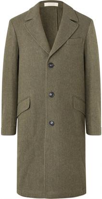 Massimo Alba Herringbone Wool Coat - Men - Green