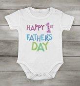 Body-soul-n-spirit Baby's Onesies Baby Cotton unisex Newborn bodysuit Short Onesie happy 1st fathers day gift